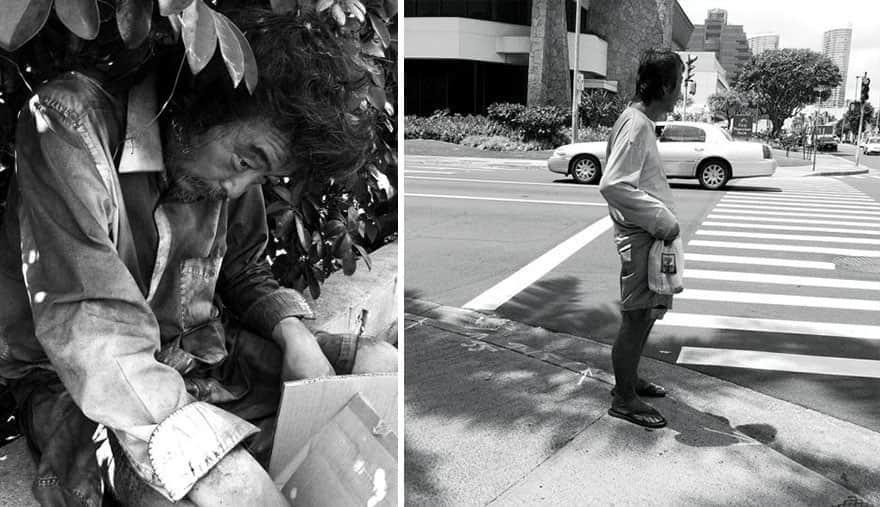 Após 10 anos retratando moradores de rua, fotógrafa descobre próprio pai entre eles 1