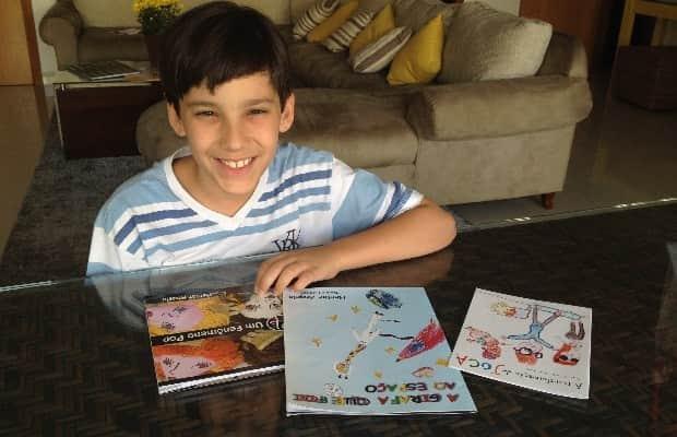 Escritor brasileiro de 11 anos lança seu quarto livro 1