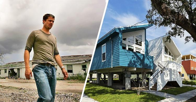 Brad Pitt construiu casas para 109 famílias que perderam tudo por causa do Katrina 1