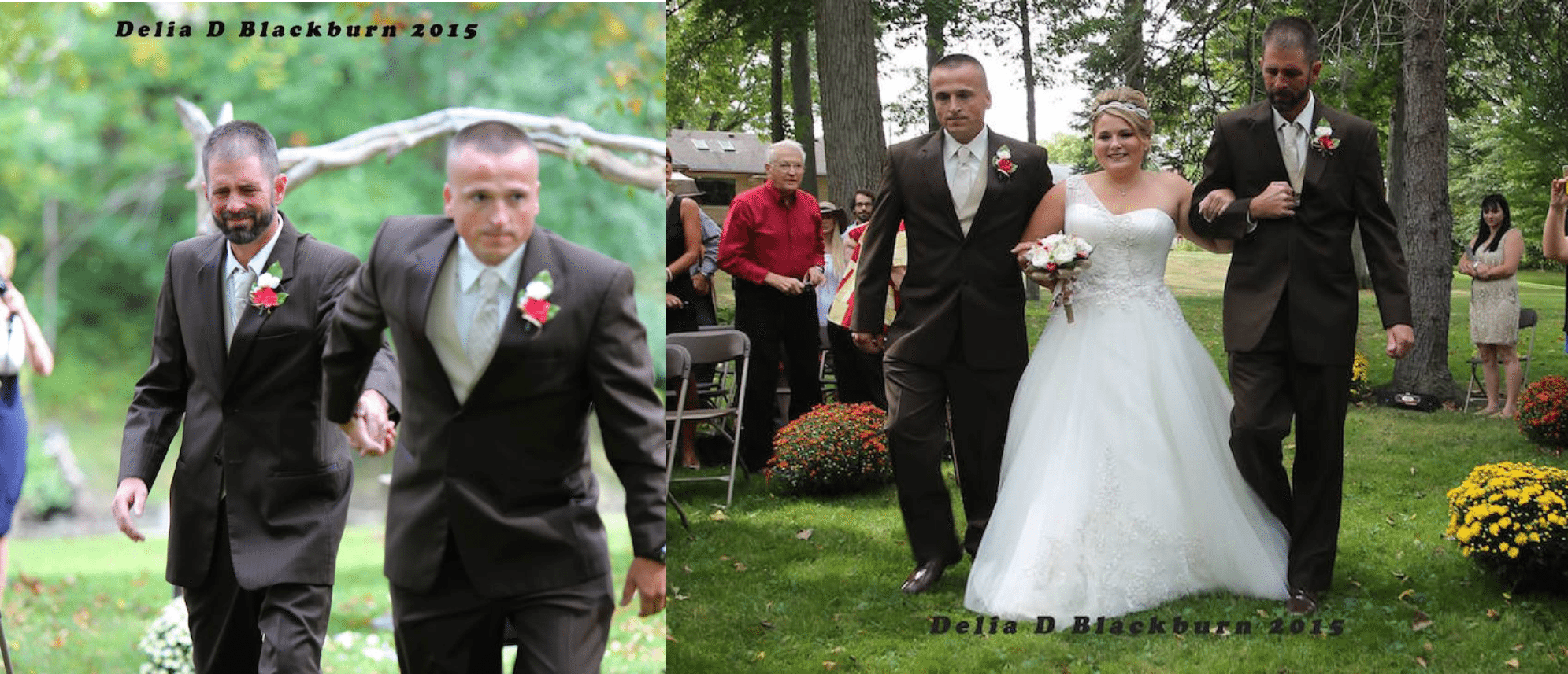 Pai convida padrasto da filha para levá-la juntos ao altar no seu casamento 1