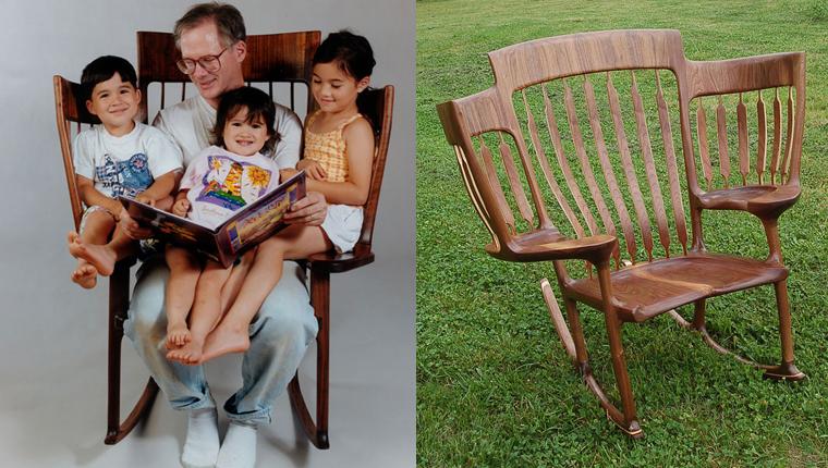 Pai cria cadeira especial para conseguir ler histórias aos três filhos 1