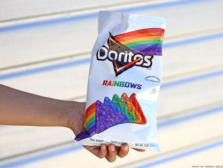 Vai ter Doritos nas cores do arco-íris sim! 1