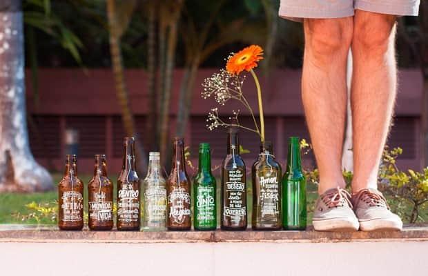 Projeto distribui gentileza através de frases em garrafas 1