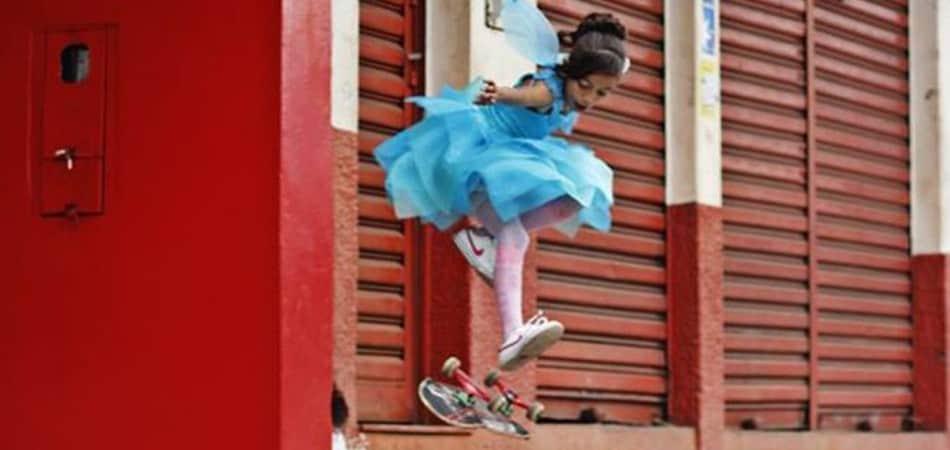 "Fada skatista de webvídeo que viralizou revela: ""Quero ser profissional"" 1"