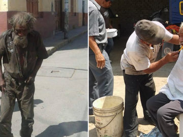 Comunidade se une para devolver um pouco de dignidade a morador de rua esquizofrênico 5