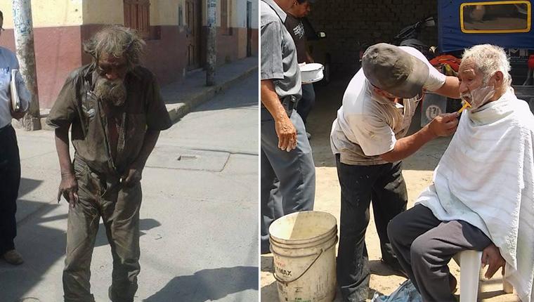 Comunidade se une para devolver um pouco de dignidade a morador de rua esquizofrênico 1