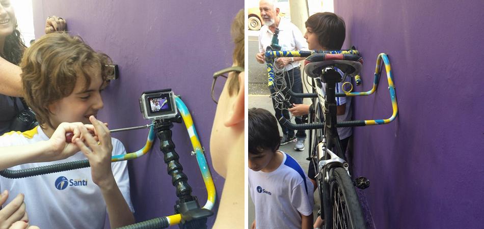 Alunos fazem vaquinha para montar bicicletários nas redodenzas da escola em SP 1