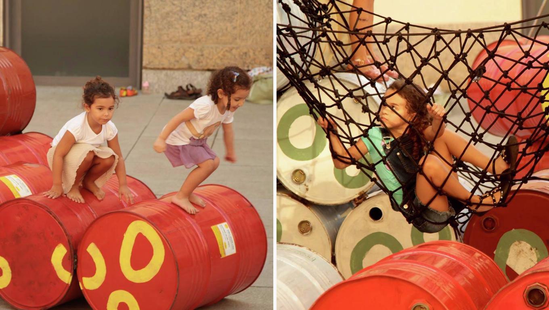 Coletivo cria playground no Rio com 200 tambores de óleo que iriam para o lixo 10