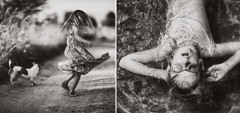 Sem Wi-fi: Fotógrafa registra seus filhos brincando no campo nas férias de verão 1