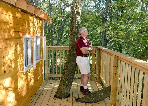 Avô cria a casa na árvore mais incrível que já se viu para os 2 netos 3