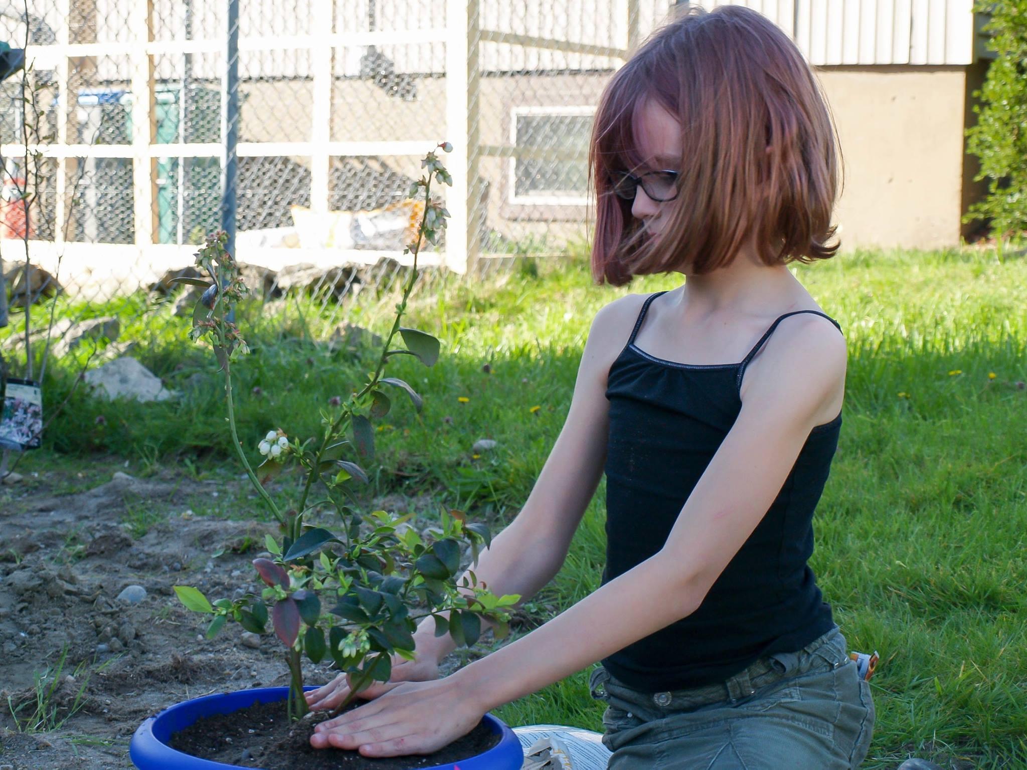 ela cultiva horta em casa 5