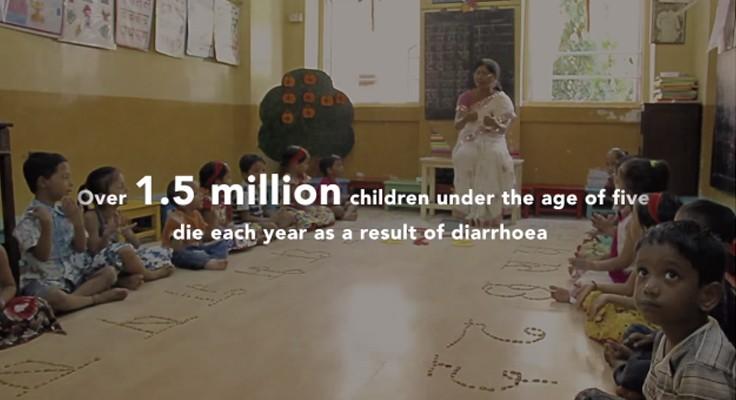 Sabonete em forma de caneta previne diarreia em escolas
