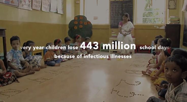 Sabonete em forma de caneta previne diarreia em escolas 2