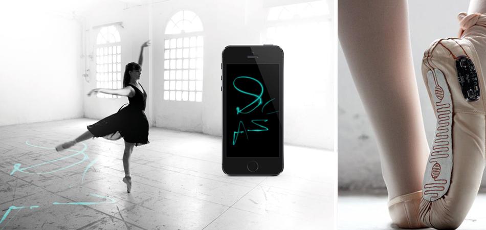 Sapatilhas captam movimentos da dança e transforma em coreografias ilustradas 1