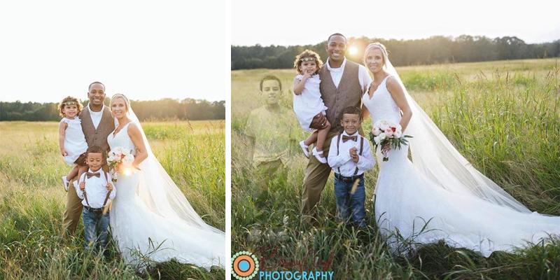 Americana inclui imagem de filho morto em foto de casamento e emociona a web 2