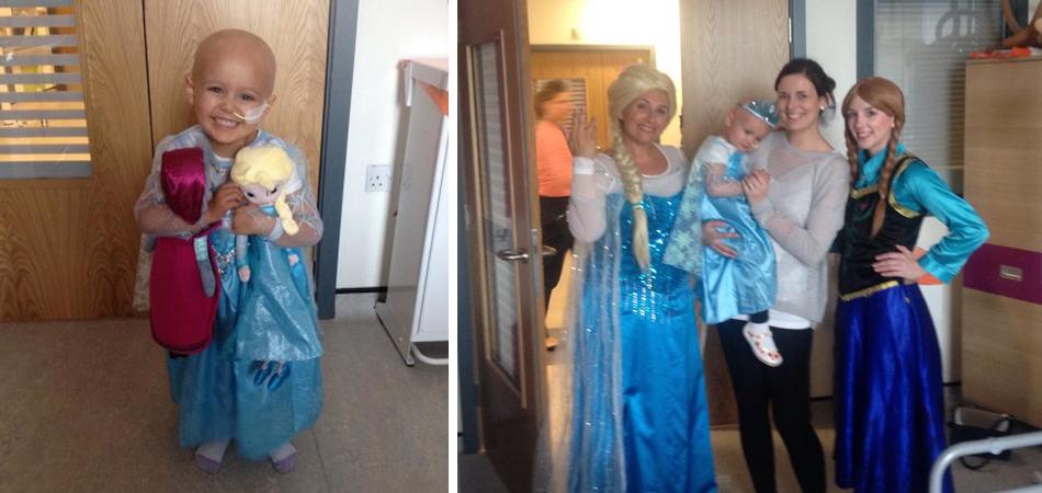 """Enfermeiras alegram dia de quimioterapia de garotinha cantando """"Let It Go!"""" [vídeo] 12"""