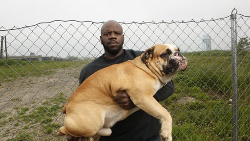 "George ""G"" - Rescue Ink member with his dog Boss. (Photo Credit: © National Geographic Channel / Shea Roggio) Rescue Ink, a group of eight tough guys covered in tattoos, is coming to the rescue of New York's animals - they save animals from desperate situations, rescue fighting dogs, confront animal abusers, and investigate stolen animals."