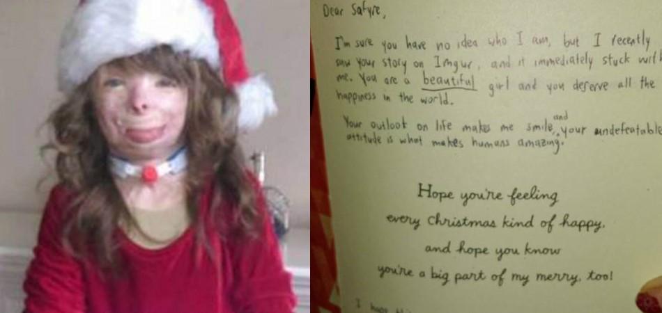 Após perder família em incêndio, menina salva pelo pai recebe cartas de Natal do mundo todo 9