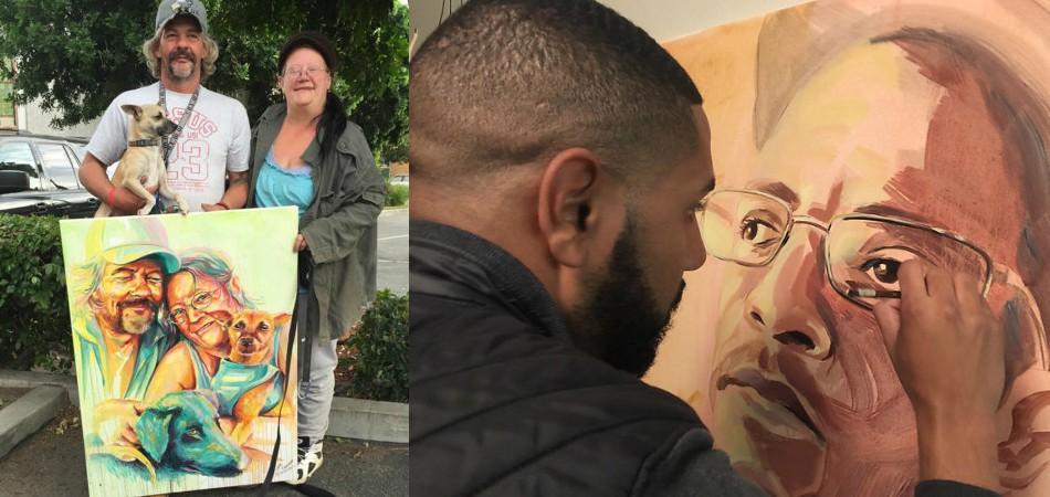 Conheça o artista que pinta e vende imagens de moradores de rua por um grande motivo 2
