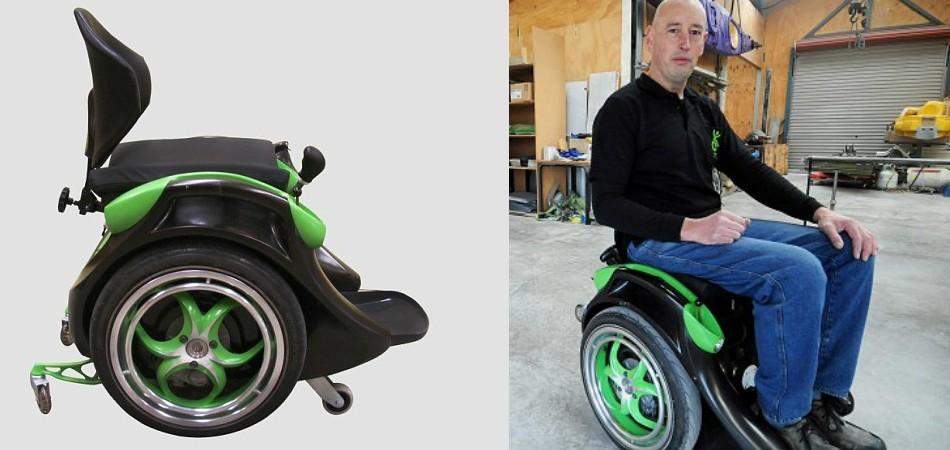 cadeira de rodas permite andar sem mãos