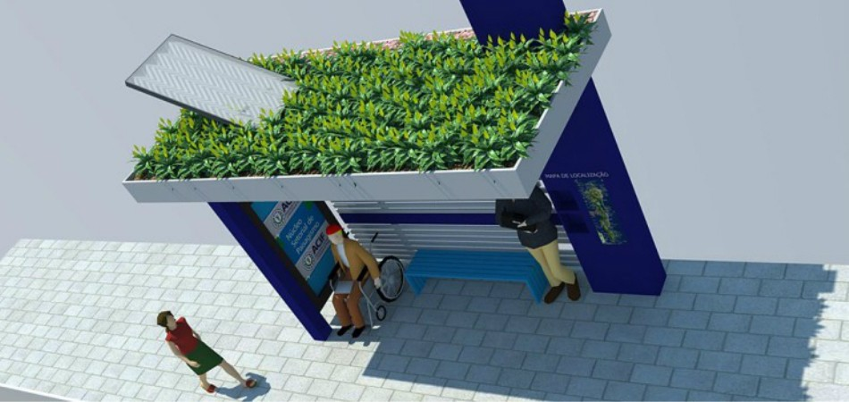 Florianópolis terá ponto de ônibus com teto verde e energia solar 1
