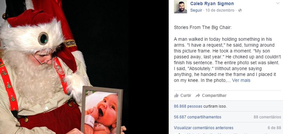 """Papai Noel se emociona com pedido de pai que perdeu filho bebê: """"O Natal pode ser difícil para algumas famílias"""" 1"""