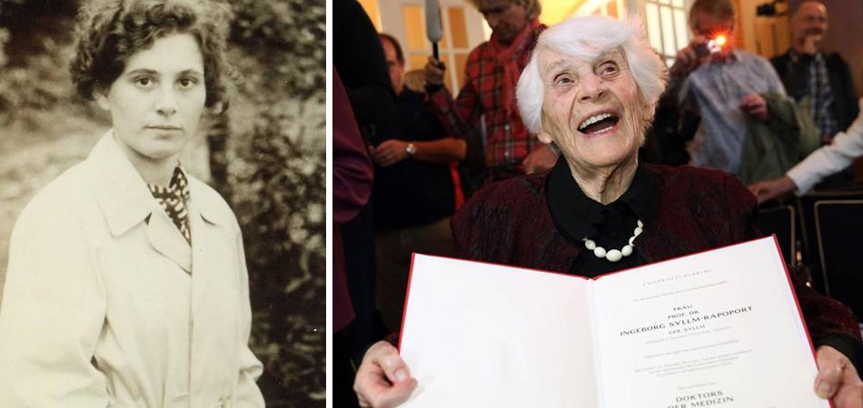Aos 102 anos, judia recebe título de doutorado negado por nazistas 1