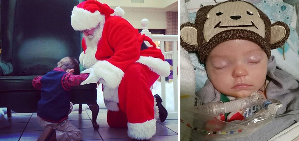 Garoto de 4 anos pede para Papai Noel rezar por bebê que luta pela vida em hospital 2