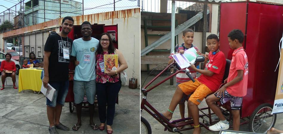 Livraria itinerante sobe o morro para estimular leitura entre crianças e jovens no RJ 1