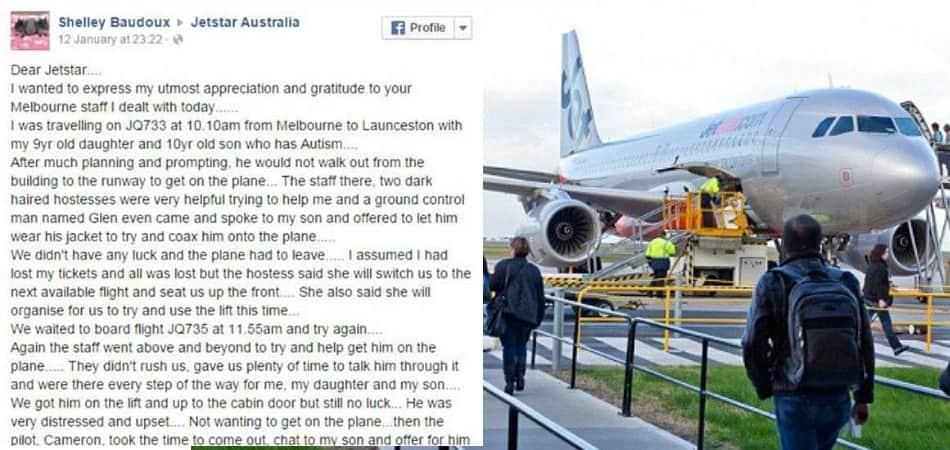 Mãe faz agradecimento emocionado para tripulação que ajudou filho autista durante voo 2