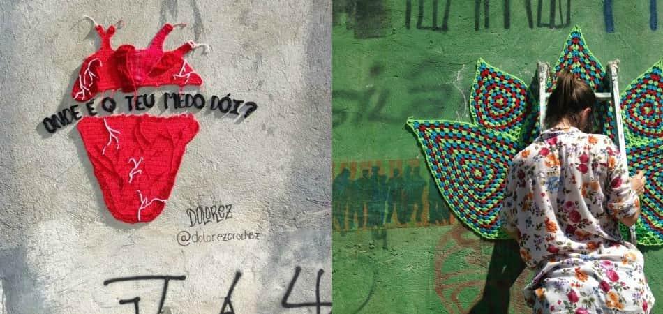 Projeto espalha intervenções urbanas de crochê e grafite 2