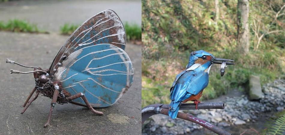 sucata transforma em esculturas