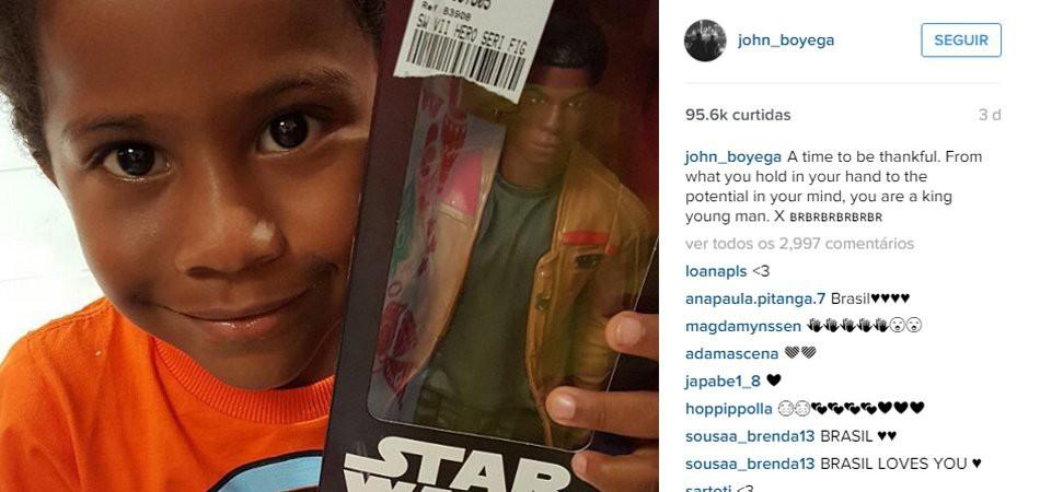 Protagonista de 'Star Wars: O Despertar da Força' manda mensagem inspiradora para o menino Matias 1