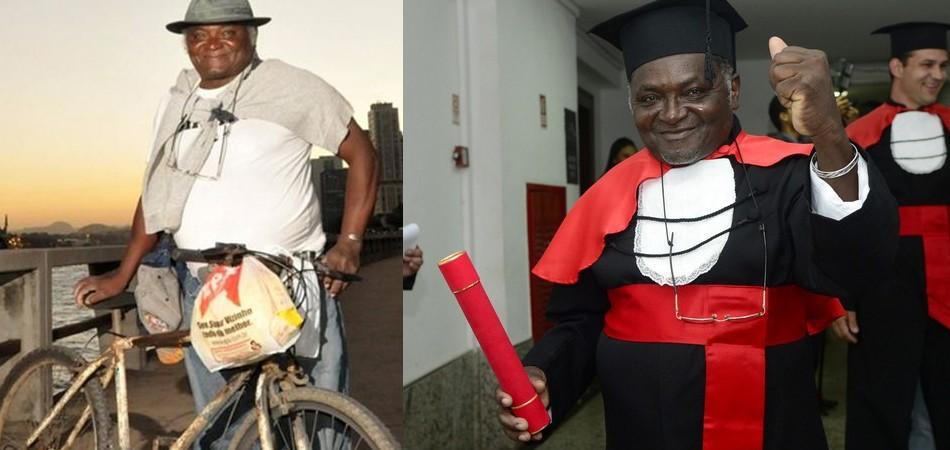 Pedreiro que pedalava 42 km para estudar Direito começa pós-graduação no mês que vem 1