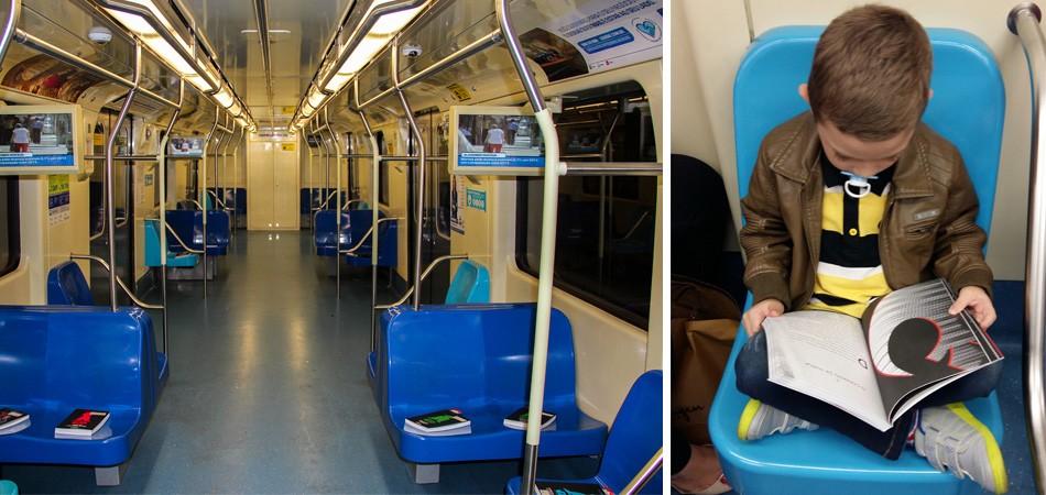 'Leitura No Vagão': projeto deixa livros em trens e metrôs para estimular a leitura 2