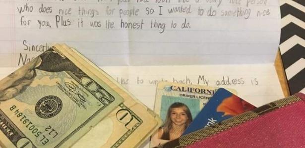 Em carta fofa, menino de 10 anos devolve carteira perdida por jovem 3