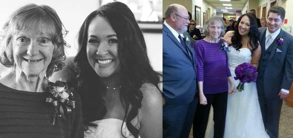 Noiva traz casamento para instituição de Alzheimer para que sua mãe pudesse participar 1