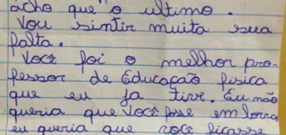 A carta emocionante de uma aluna com membro amputado para o seu melhor professor de Educação Física 1