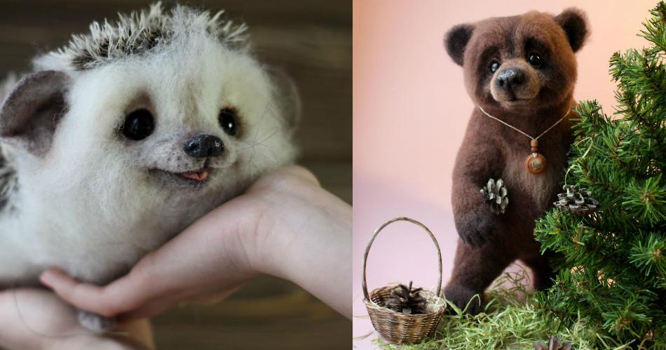 Artista cria animais a partir de lã que são incrivelmente realistas 1