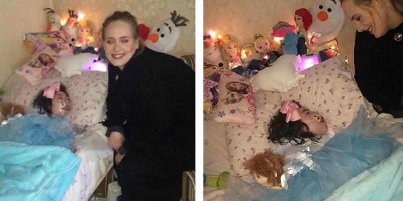 Adele atende pedido online e visita menina de 12 anos com doença terminal 2