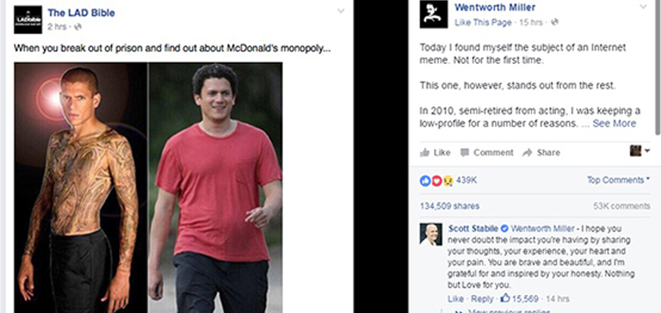 """Após sua foto virar meme, ator de """"Prison Break"""" faz desabafo emocionante 1"""