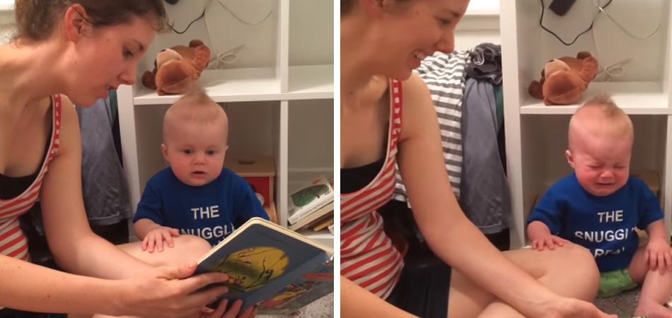 Vídeo de bebê que chora quando o livro acaba faz sucesso na internet 1