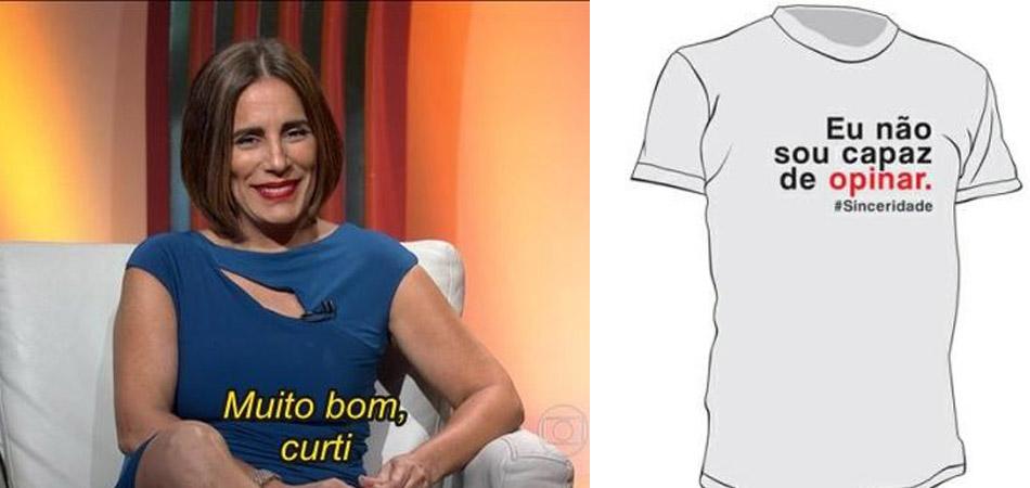 Atriz Gloria Pires faz camisetas com suas frases no Oscar e doa lucro para ONG carioca 2
