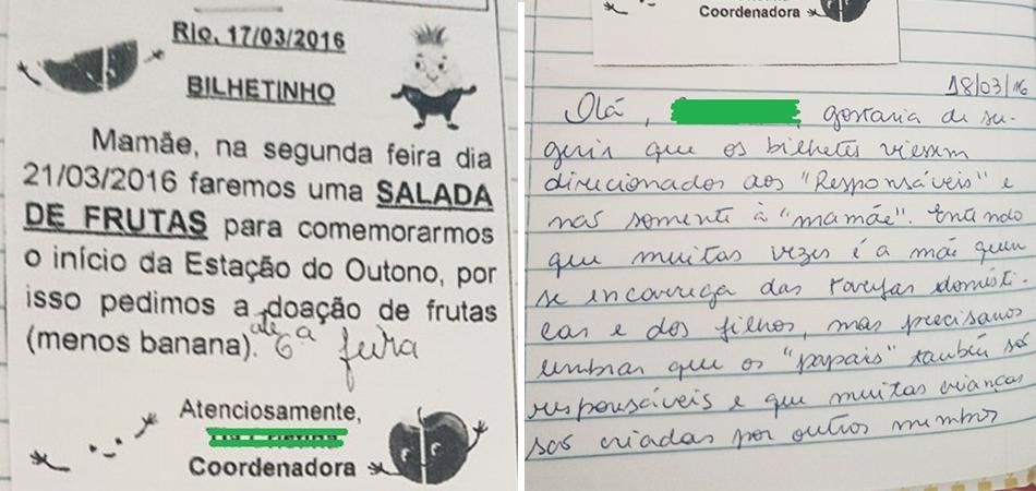 resposta de mãe viraliza na escola