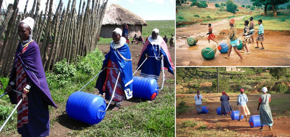 A invenção que está ajudando milhares de famílias transportarem água na África do Sul 2