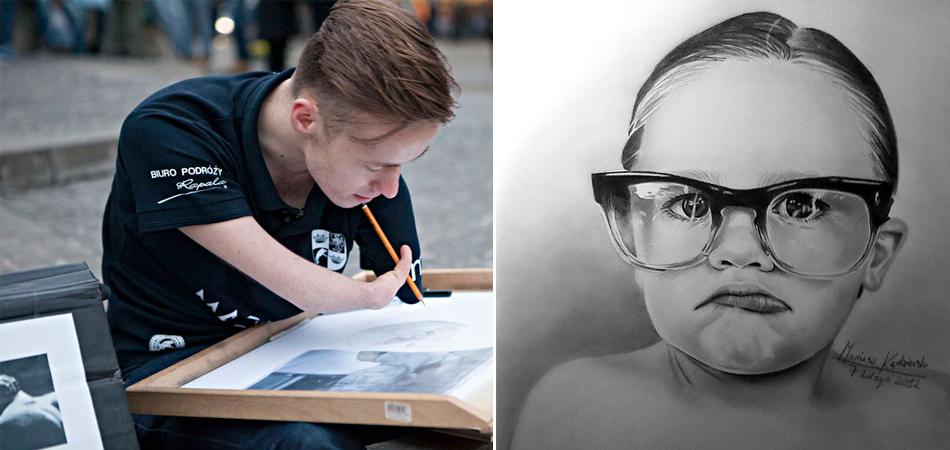 Ele nasceu sem os braços, mas faz desenhos hiperrealistas incríveis 5