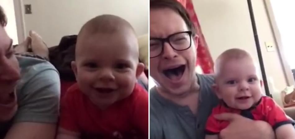 Pai e filho enviam os vídeos mais engraçados para a mãe enquanto ela trabalha fora 2
