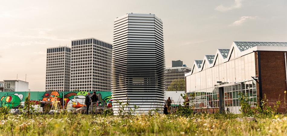 Roterdã inaugura torre tecnológica que retira 75% dos gases poluentes do ar 8