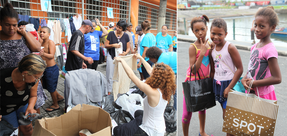 Alunos arrecadam mais de 2 mil peças de vestuário para população carente de Santos (SP) 5