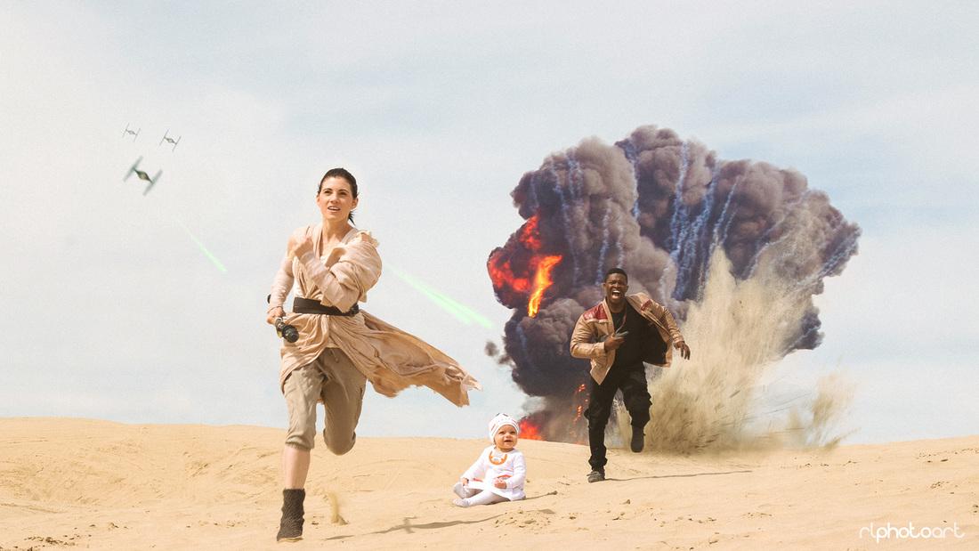 Casal e seu bebê fazem ensaio inspirado no filme da saga 'Star Wars' 1
